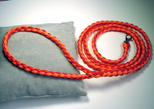 Hundeleine Paracord rot/orange